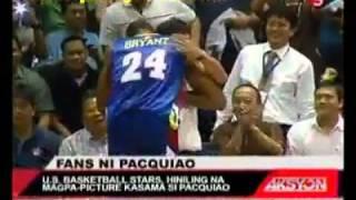 getlinkyoutube.com-PACQUIAO STEALS THE SHOW, GREETS KOBE BRYANT! NBA WINS AGAIN! VS. PBA ALL-STARS