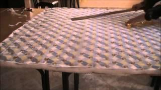 المرحلة الاولى من خياطة غطاء سرير اطفال