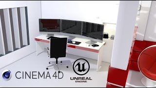 getlinkyoutube.com-Cinema4D & Unreal Engine 4 - House Interior/Car/Electronics