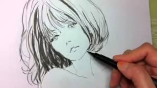 getlinkyoutube.com-Father&me. [Illusration] drawing.인물그리기. 일러스트.