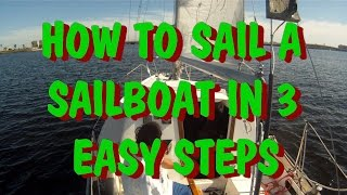 How to Sail a Sailboat In 3 easy steps SAILING 101