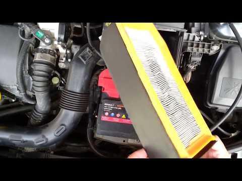 Dacia Duster - air filter replacement/Luftfilter wechseln/Cambio del filtro dell'aria