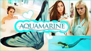 getlinkyoutube.com-Aquamarine Makeup, Hair, Dress & Mermaid Tail Tutorial!
