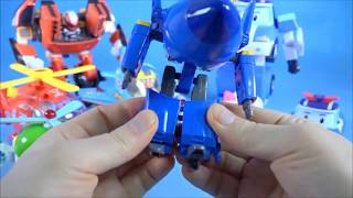 getlinkyoutube.com-Super Wings, Poli 슈퍼윙스 출동 로보카폴리 뽀로로 또봇 장난감 Super Wings Pororo Tobot Robocar Poli toys