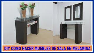 getlinkyoutube.com-Como hacer muebles de melamina para sala  recibidor / How to make living room furniture melamine