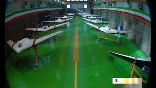 getlinkyoutube.com-Iran Jet engine UCAV Stealth Bomber dubbed Saeqeh in Military Drones exhibition پهپاد صاعقه ايران