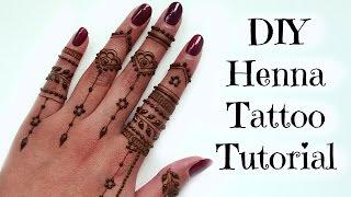 getlinkyoutube.com-DIY Easy Henna Tattoo Tutorial | Tips and Tricks