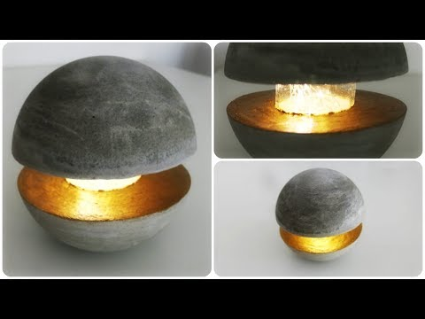 Cum sa faci o lampa din beton