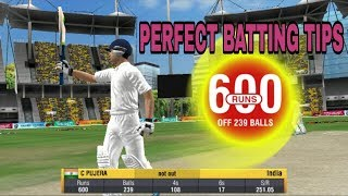 WCC2 (Perfect Batting Tips) - How to Score 1000 Runs in Test Match
