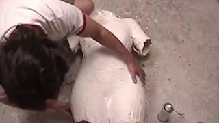 getlinkyoutube.com-Lifecasting Tutorial: Dress Form Cast In Flexible Foam