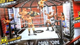 getlinkyoutube.com-WWE Elimination Chamber Playset Ring Toys R Us Exclusive Unboxing, Construction & Review!!