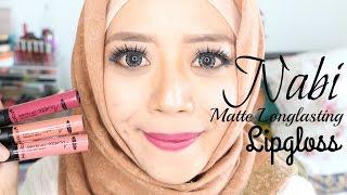 getlinkyoutube.com-Nabi Matte Longlasting Lipgloss Review dan Swatches (INDONESIA) // Nabi Matte Lipgloss // MyMEtime
