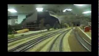 getlinkyoutube.com-Hennepin Overland HO Model Railway: Engineer's Cab View.  11-Scale Miles of Track!