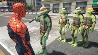 getlinkyoutube.com-Mutant Teenage Ninja Turtles vs SPIDERMAN - EPIC BATTLE