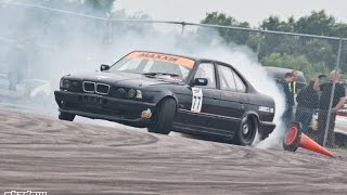 getlinkyoutube.com-BMW E34 Brutal Drift & Burnout