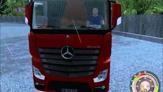 getlinkyoutube.com-German Truck Simulator Mercedes Actros MP-4