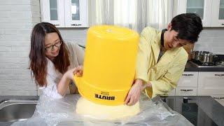 getlinkyoutube.com-기네스북 37kg 푸딩 봉인해제 대작전!!! - 스윗더미x허팝 (37kg Ultra Pudding)