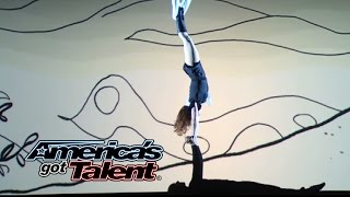 getlinkyoutube.com-Aerial Animation: Aerial Act Goes Under the Sea - America's Got Talent 2014