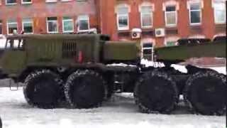 getlinkyoutube.com-Army truck MAZ-537 skidding on slippery roads