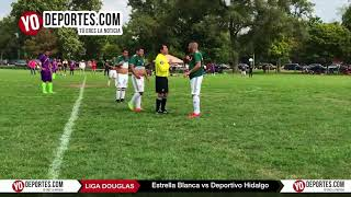 Estrella Blanca vs. Deportivo Hidalgo Liga Douglas Juego de Ida