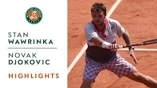 getlinkyoutube.com-S. Wawrinka v. N. Djokovic 2015 French Open Men's Highlights / Final