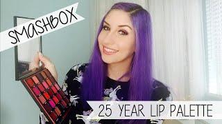 getlinkyoutube.com-Smashbox 25 Year Anniversary Lip Palette | First Impressions + Swatches