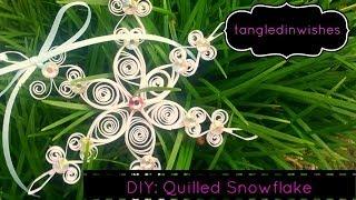 getlinkyoutube.com-DIY: Paper Quilling-Snowflake Ornament