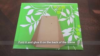 getlinkyoutube.com-Recycled craft - How to make a Picture Frame out of gift bag