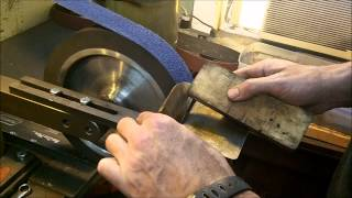 getlinkyoutube.com-Knife Making Tutorial-  How to Hollow Grind a Knife