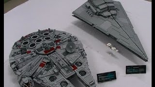 getlinkyoutube.com-Lego UCS Millennium Falcon 10179 V's Imperial Star Destroyer 10030 Comparison & Overview