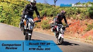 getlinkyoutube.com-Benelli TNT 25 vs KTM Duke 200 - Comparison Review | MotorBeam