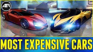 MOST EXPENSIVE CARS & FASTEST CARS!!! - Asphalt 8