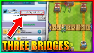 """getlinkyoutube.com-EVERYTHING YOU NEED TO KNOW ABOUT The """"THREE BRIDGE CHALLENGE"""" in Clash Royale!"""