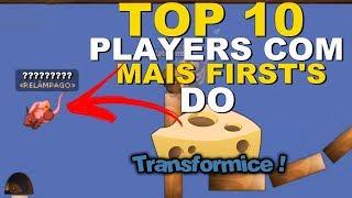 TOP 10 Jogadores Com Mais First's do TRANSFORMICE! [2018] - ~Steell