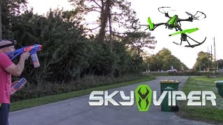 getlinkyoutube.com-DRONE + NERF GUN = AERIAL TARGET PRACTICE!