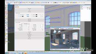 V-Ray for SketchUp - Daylight Set Up (interior scene) - tutorial