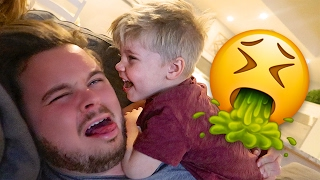 getlinkyoutube.com-TODDLER VOMIT SURPRISE! 😫