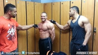 Marc Lobliner Flexing With Hodgetwins @hodgetwins