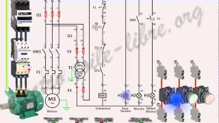 getlinkyoutube.com-Démarrage direct sans automaintien moteur asynchrone