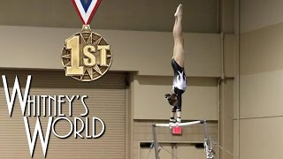 getlinkyoutube.com-Whitney Bjerken | 2nd Level 8 Gymnastics Meet | All Around Champion