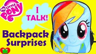 getlinkyoutube.com-My Little Pony Rainbow Dash Backpack Surprises with Frozen