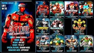 getlinkyoutube.com-Real Steel WRB ATOM VS UW I & UW II ROBOTS Series Fights   Old School (Живая Сталь)