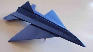 getlinkyoutube.com-Como hacer un Avion de Papel que Vuela Mucho - Aviones de Papel - Origami Avión | F16