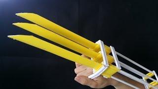 getlinkyoutube.com-Как сделать когти Росомахи  | бумага | X-men Wolverine