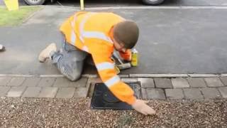 getlinkyoutube.com-Installing automatic rising bollards to the entrance of a domestic driveway.