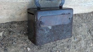 getlinkyoutube.com-Awesome Bank Box Found Metal Detecting a Ghost Town Mining Camp. Part 1
