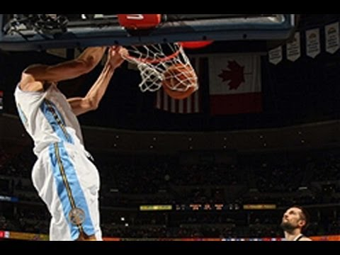 JaVale McGee`s Dunk Show in Denver
