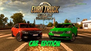 getlinkyoutube.com-CARS IN ETS2MP?! - Euro Truck Simulator 2 Multiplayer Random/Funny Moments: Car Edition