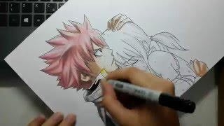 Speed Drawing - Natsu and Lucy (Fairy Tail)