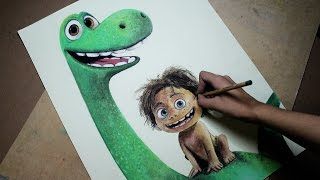 getlinkyoutube.com-Speed Drawing: Arlo and Spot (The Good Dinosaur) | Diana Díaz